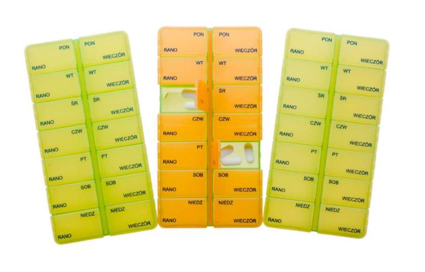 Pojemnik Na Leki Kasetka Tygodniowa 7 2 Dwie Pory Dnia Medical Depot Zaopatrzenie Medyczne