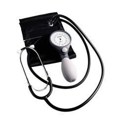 Ciśnieniomierz zegarowy ze stetoskopem Riester Ri-san+ szary