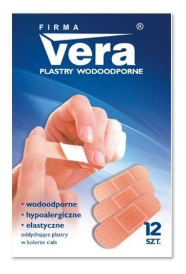 Zestaw plastrów wodoodpornych VERA, S - 12 szt.