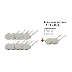 Lusterko stomatologiczne rodowane nr 5 (10 szt. + 2 gratis)