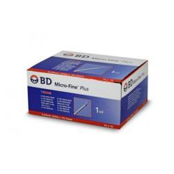 Strzykawka do insuliny BD 1 ml, 0,33 mm x 12 mm (G-29), U-100 - 10 x 10 szt.
