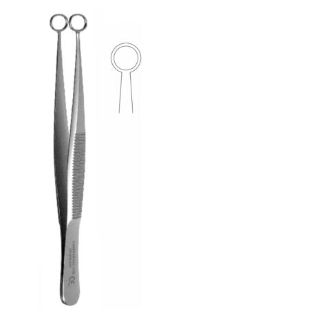 Pinceta do pobierania wycinka, dł. 100 mm, okrągłe zakończenie śr. 9 mm