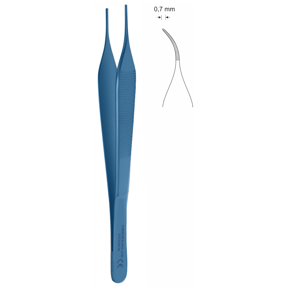 Pinceta mikrochirurgiczna, anatomiczna typu ADSON, dł. 150 mm