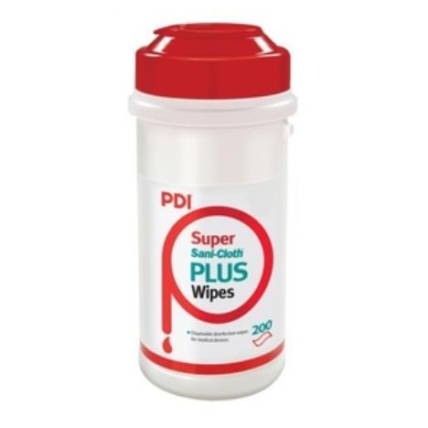 PDI Super Sani Cloth Plus Chusteczki do dezynfekcji powierzchni i sprzętu, tuba 200 szt
