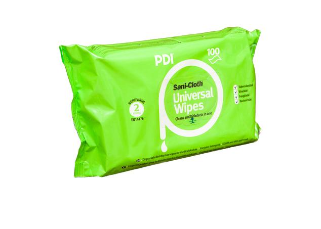 PDI Sani Cloth Universal AF Chusteczki do dezynfekcji powierzchni i sprzętu, flow pack 100 szt