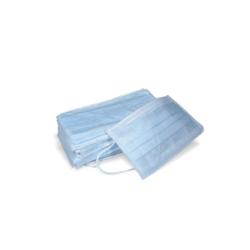 Jednorazowa maseczka z 3-warstwowej włókniny niebieska z gumką - 5 szt.