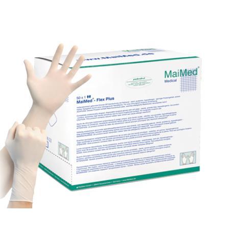 Rękawiczki chirurgiczne lateksowe bezpudrowe roz. 7,5, op. 1 para