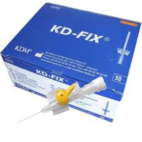 Kaniula dożylna żółta wenflon KD-Fix 0,7 mm