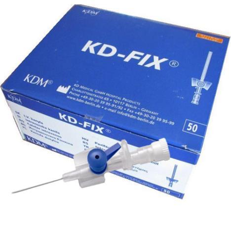 Kaniula dożylna niebieska wenflon KD-Fix 0,9 z portem