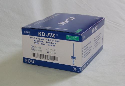 Kaniula dożylna zielona wenflon KD-Fix 1,3 mm z portem