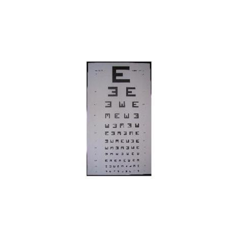 Tablica okulistyczna Snellena Widełki ( E )