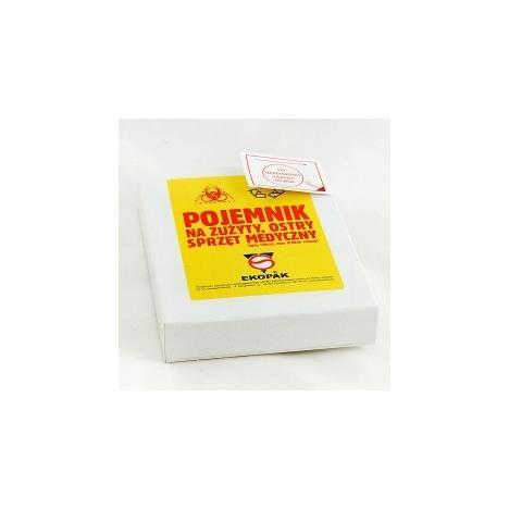 Pojemnik na zużyte strzykawki, kartonowy (dla piel. środowiskowych)