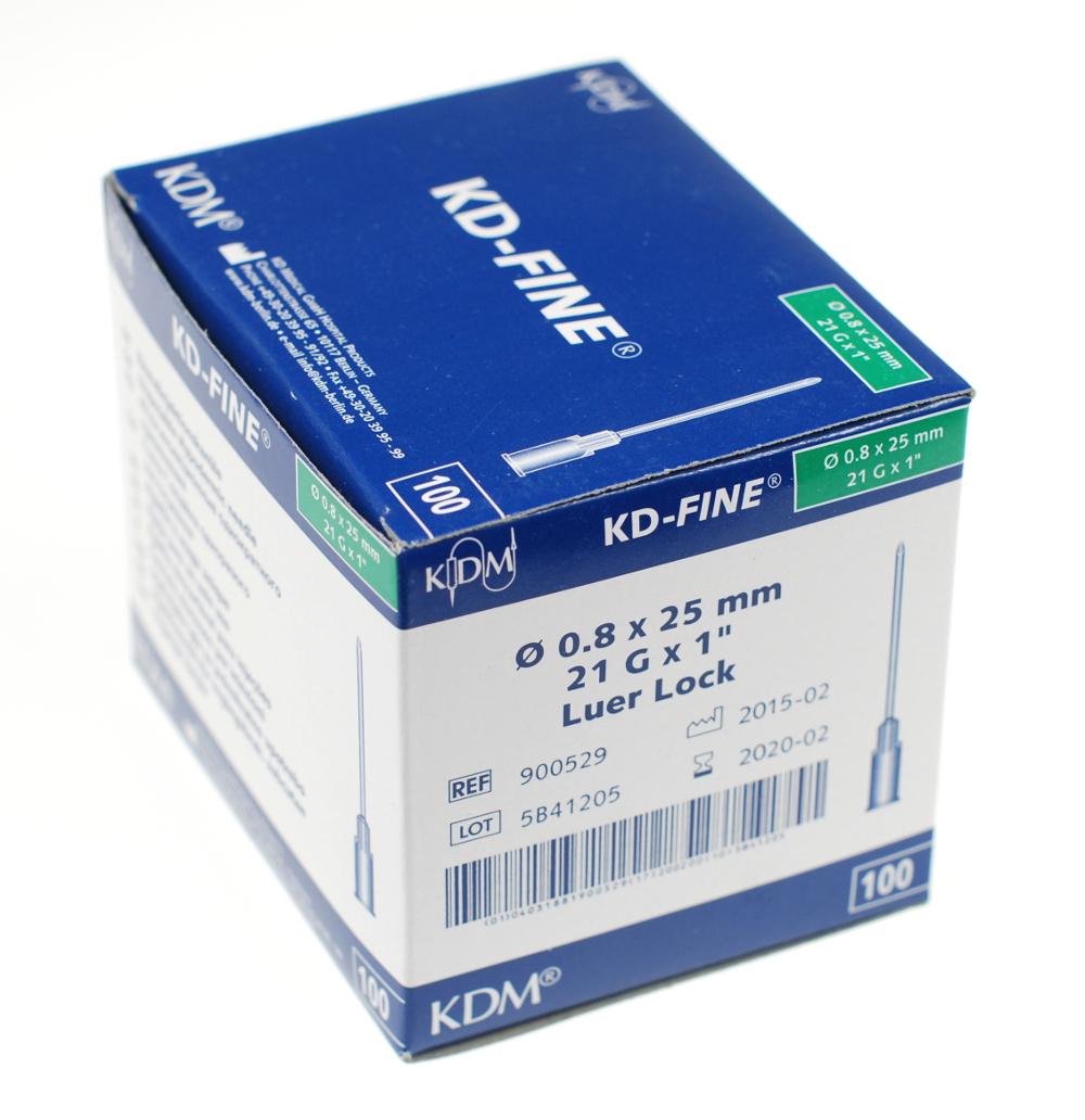 Igły iniekcyjne KD -  Fine j.u. 0,8 x  25 mm - 100 szt.
