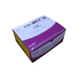 Strzykawki insulinowe KDM U40 z igłą 0,40 x 12 mm - 100 szt.