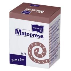 MATOPRESS bandaż elastyczny uciskowy z zapinką 12cm x 5m, 1szt.