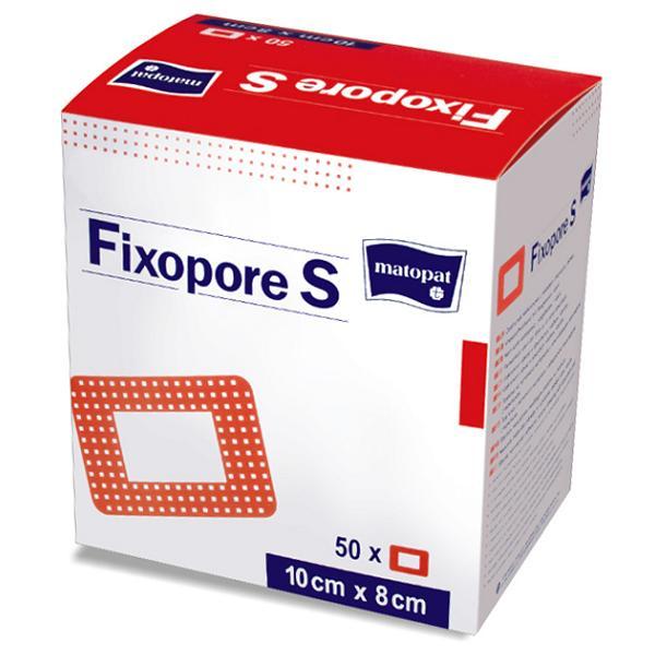 FIXOPORE S jałowy opatrunek z wkładem chłonnym na włóknienie z opatrunkiem 10 cm x 6 cm, 50 szt.
