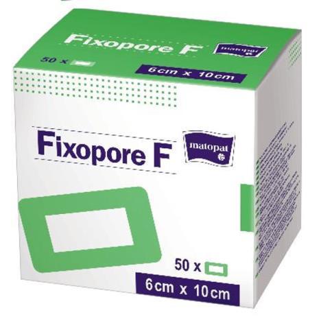 FIXOPORE F jałowy opatrunek foliowy z wkładem chłonnym 10 cm x 6 cm, 50 szt.