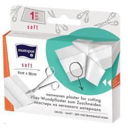 SOFT plaster z opatrunkiem na włókninie do cięcia 6 cm x 50 cm, 1 szt.