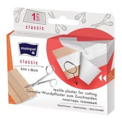 CLASSIC plaster z opatrunkiemna tkaninie do cięcia 6 x 50 cm, 1 szt.