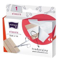 CLASSIC plaster z opatrunkiem na tkaninie do cięcia 6 cm x 1 m - 1 szt.