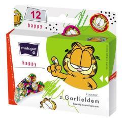 Plastry HAPPY z kotem Garefieldem dla dzieci, 12 szt.