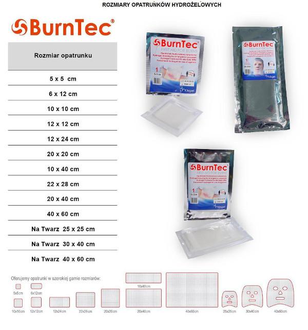 Opatrunek hydrożelowy BurnTec 10 x 10 cm, 1 szt.