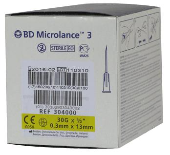 Igły BD Microlance 0,3 x 13 - 100 szt.