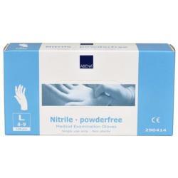 Rękawice nitrylowe bezpudrowe niebieskie 100szt., roz. M