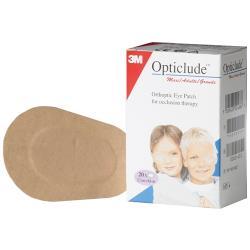 Opatrunki okulistyczne Opticlude, 5cm x 6cm, op. 20 szt
